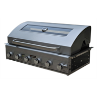 Jumbuck 6 Burner Built In Hooded Comet Plus BBQ