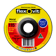 Flexovit 115 x 3.4 x 22.2mm Metal Cutting Wheel