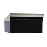 Sandleford Black / Silver Condo Post Mounted Letterbox