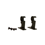 Windoware 50mm Black Curtain Rod Brackets - 2 Pack