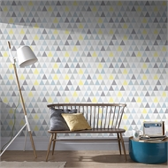 Superfresco Easy 52cm x 10m Tarek Jaune Bleu Wallpaper
