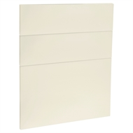 Kaboodle 600mm Custard Glaze Modern 3 Drawer Panels