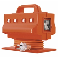 Arlec 8 Outlet 10A RCD And IP44 Heavy Duty Power Block
