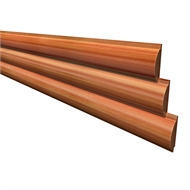 122 x 31mm Cladding Half Log - Per Linear Metre