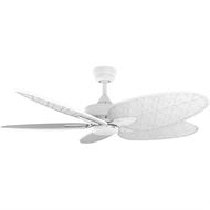 Crestwind 52-Inch White Bamboo Ceiling Fan - White