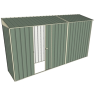 Build-a-Shed 0.8 x 3.7 x 2m Skillion Single Sliding Side Door Shed - Green
