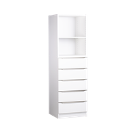 Multistore 1495 x 450 x 430mm Storage Unit - Crisp White