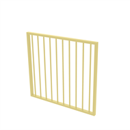 Protector Aluminium 975 x 900mm Flat Top Garden Gate - To Suit Gudgeon Hinges - Primrose