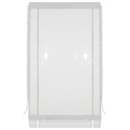 Bistro Blinds 120 x 240cm Clear and White PVC Outdoor Blind