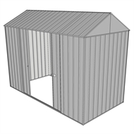 Build-a-Shed 1.5 x 3.0 x 2.3m Gable Double Sliding Side Door Shed - Zinc