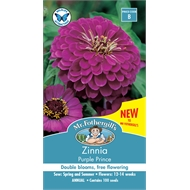 Mr Fothergill's Zinnia Purple Prince Flower Seeds