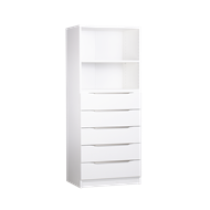 Multistore 1495 x 608 x 430mm White Storage Unit - Crisp White