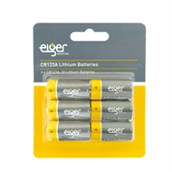 Eiger CR123A 3V  Lithium Golden Power Battery - 6 Pack