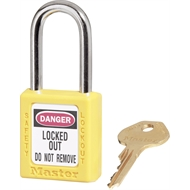 Master Lock Yellow KD Safety Lockout Padlock