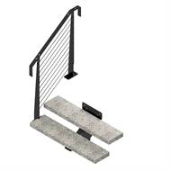 Weldlok Mono String Concrete and Wire 2 Tread Stair Kit