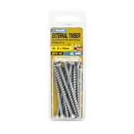Zenith 10 - 8 x 75mm Galvanised Countersunk Ribbed Head Timber Screws - 10 Pack