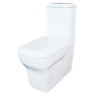Mondella WELS 4 Star 4.5/3 Litres White Rumba Back to Wall Toilet Suite