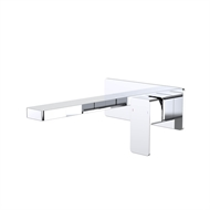 Dorf WELS 5 Star 6L/Min 180mm Chrome Epic Platemount Wall Basin Mixer