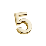 Sandleford 35mm 5 Gold Self Adhesive Harbour Numeral