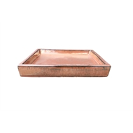 Northcote Pottery Copper Primo Square Saucer - 300mm