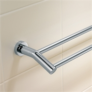 Cosmo 600mm Chrome Double Towel Rail
