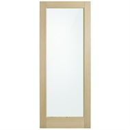 Corinthian Doors 620 x 2340 x 40mm Blonde Oak AWO 21 Translucent Glass Entrance Door