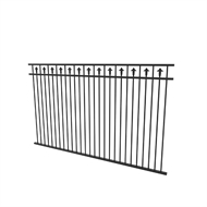 Protector Aluminium 2450 x 1200mm Custom Double Top Rail With Spears Boundary and Garden Fence Panel