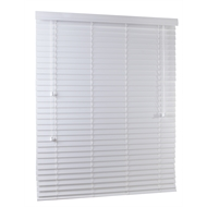 Zone Interiors 120 x 150cm 50mm Winter White PVC Economical Long Island Venetian Blind