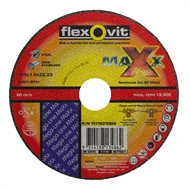 Flexovit 115 x 1.0 x 22.2mm Maxx Cut Off Wheel