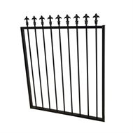 Protector Aluminium 975 x 1200mm Black Spear Top Boundary And Garden Gate