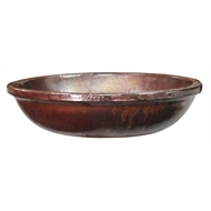 Northcote Pottery 50 x 14cm Primo Newport Bird Bath Bowl - Copper
