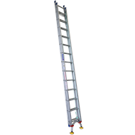Indalex 4.4m - 7.9m 150kg Aluminium Extension Ladder with Level-Arc