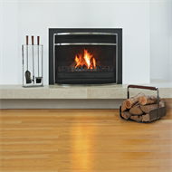 Decofire 410 x 380 x 135mm Black Nickel Moderno Log Holder