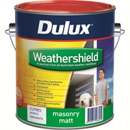 Dulux Weathershield 2L Matt White Exterior Paint