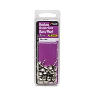 Paslode Round Head Nickel Plated Upholstery Nails - 35 Pack