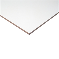 1800 x 295 x 16mm ABS White Melamine Sheet