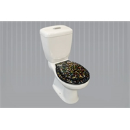 Loo With A View Black Jelly Bean 3 Piece Toilet Seat