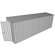 Build-A-Shed 1.2 x 6.0 x 2.0m Zinc Tunnel Shed Tunnel Hinged Door No Side Doors - Zinc