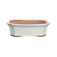 Northcote Pottery 26 x 19 x 9cm Rectangle Yama Bonsai Pot - White