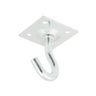 Zenith Zinc Plated Clothesline Hook With Plate Fitting