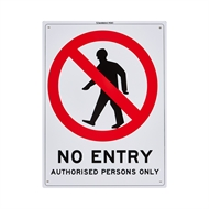 Sandleford 300 x 225mm No Entry Plastic Sign