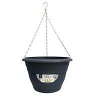 Northcote Pottery 250mm Graphite Villa Plastic Hanging Basket