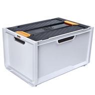 Ezy Storage 66L White Bunker System Crate