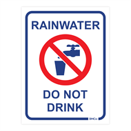 Rain Harvesting 100 x 75mm Metal Rainwater Do Not Drink Sign