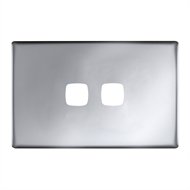 HPM LINEA 2 Gang Coverplate - Matt Silver