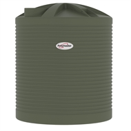 Polymaster 5200L Round Corrugated Poly Water Tank - Mist Green