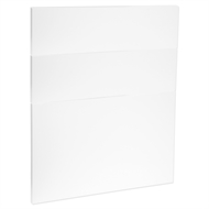 Kaboodle 600mm Meringue Glaze Modern 3 Drawer Panels