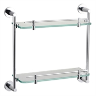 Mondella 400 x 380 x 125mm Concerto Double Layer Glass Shelf