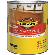 Cabot's 1L Satin Oil Based Walnut Stain and Varnish