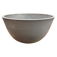 Eden 31cm Taupe Green Earth Low Bowl Plastic Pot